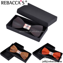 Wedding 3D solid wood wooden bow tie