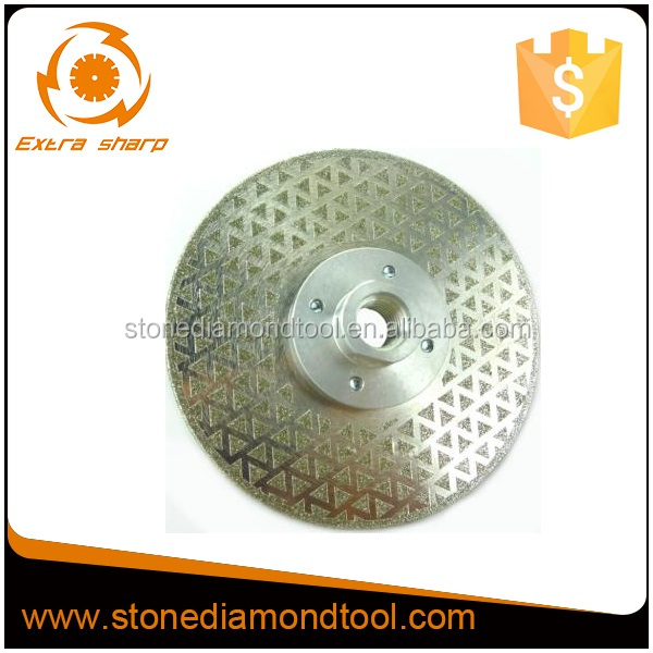 125mm Flange M14 Electroplated Blade for Cutting Glass Granite Marble