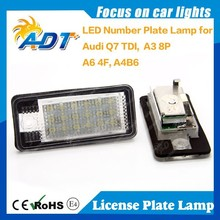 18 months Warranty Number Plate Lamp For Audi Q7 TDI A3 8P A6 4F A4 B6, License Plate Lamp Car Accessories