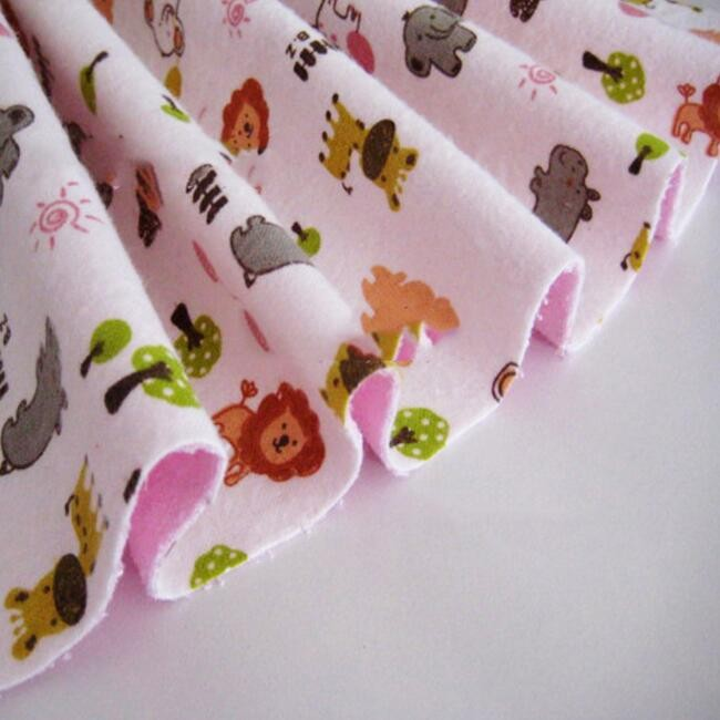 organic cotton printed flannel fabric for baby rompers rolls