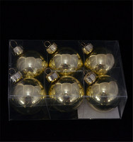 New product hot selling glass christmas ball shipping from china in pvc box for christmas tree decoration
