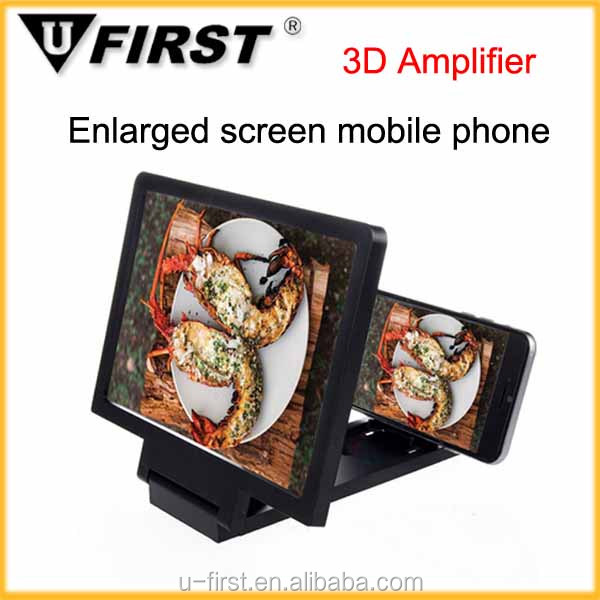 Hot!!!Portable Foldable Mobile Phone screen magnifier bracket,stand Enlarge Cellphone Amplifier,3D mobile phone screen magnifier