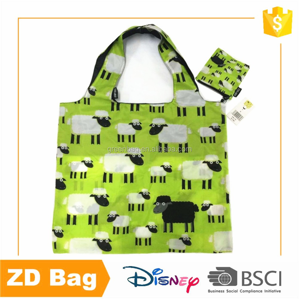 Eco Friendly Nylon Tote Shopping Foldable Bag