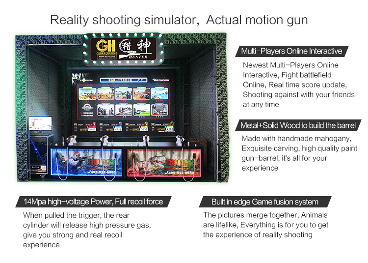 New design indoor play equipment shooting games for boys Of Different Capacities