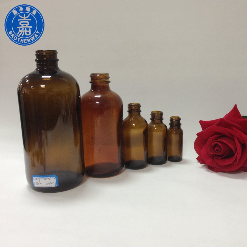 30ml 50ml 120ml 250ml 500ml boston round amber glass e liquid bottle with dropper