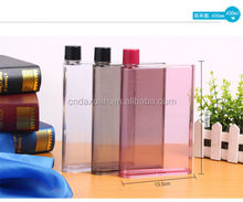 Hot selling Mini A5 Memo plastic Bottle Memo Water Bottle Flat notebook Bottle