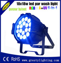 18X18W rgbawv 6-in-1 led par light/decorative lights for holiday
