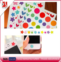 colorful DIY photo dlbum/notebook paper decoration wall mobile phone sticker button star heart adhesive 3m sticker