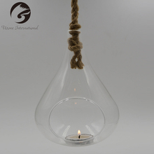 Most Popular Hanging Tear Drop Glass Ball Candle Holder