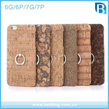 For iPhone 7 Plus Wood Case with Ring holder , Original Wood Mobile Phone Case for iPhone 7