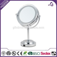 Hot selling illuminated on stand magnifying mirror bathroom vanity mirror