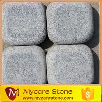 G654 dark grey tumbled Granite Paving tile 10*10