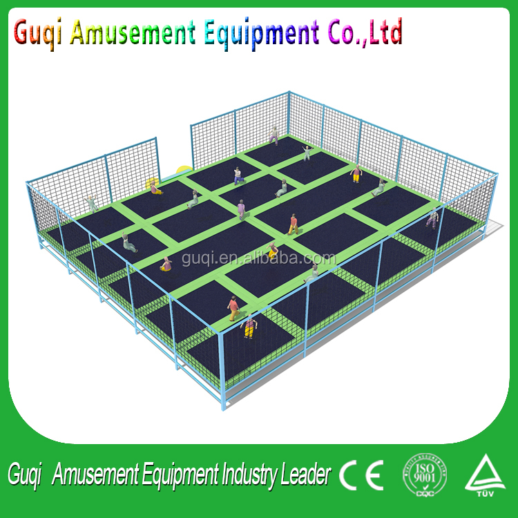 Hot Sale used for commercial gymnastic trampoline,in ground trampoline