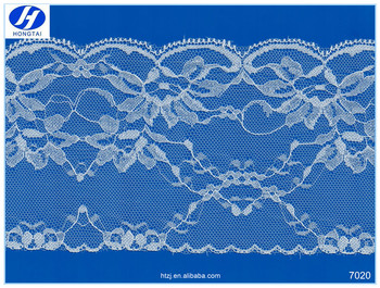 Hongtai selling well cord lace fabric nylon lace trims/ribbon