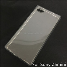 Soft TPU Silicon Transparent Clear Case For Sony xperia z5 mini