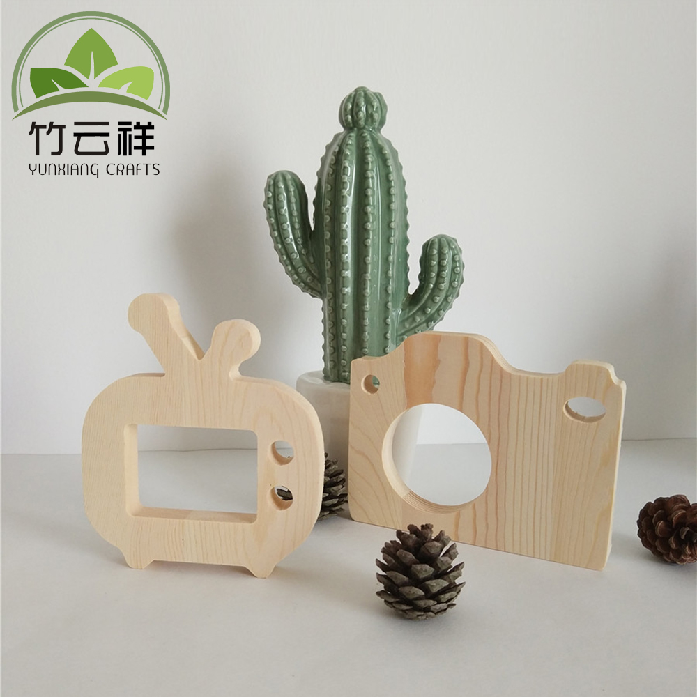 Cute Wooden Toy Camera DIY Toy