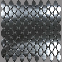 oval shape mosaic tiles, stainless steel mosaic tiles for modern house(PMTH3022)