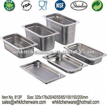 Stainless steel GN food pan anti jam pan steam table container good quality with NSF Low Moq