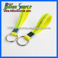 2016 latest new fashion silicone wristband key chain