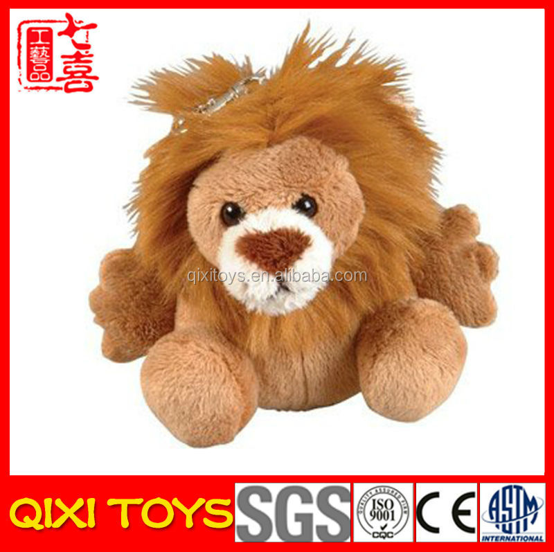 Car key plush lion keychain cute keychain plush toy