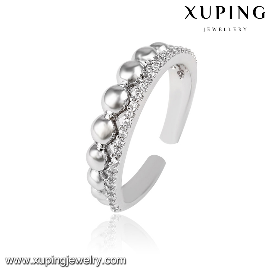 14022 Xuping weddomg band female finger ring latest design wear ring