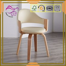 Modern style beauty PU rotating dining chair