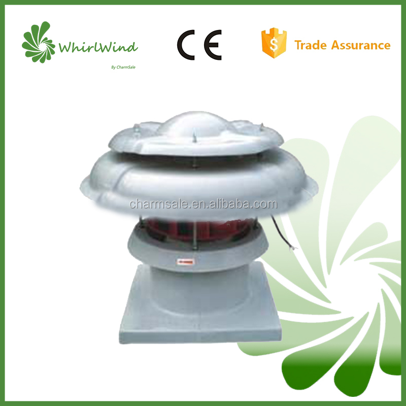 DWT-II SERIES FRP AXIAL FIBER GLASS industrial roof top ventilation fan