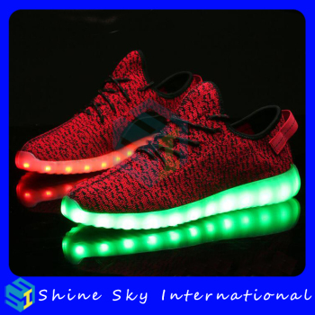 Logo accept big size led trainers,led trainers thanks giving gifts big size led trainers