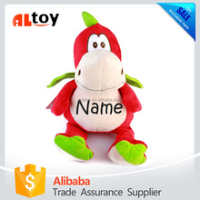 Personalized Stuffed Red Dragon with Embroidered Name