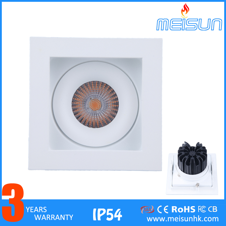 high lumens cob led ceiling downlight cylinder 10w ceiling led downlight ce rohs led cob anti-glare downlight