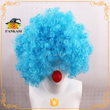 Party supply Soccer crazy cheap football fans wig