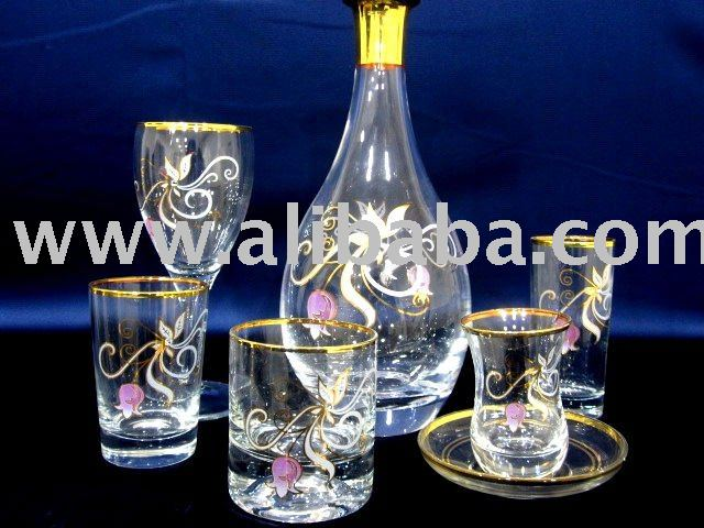 DECORATED GLASSWARE