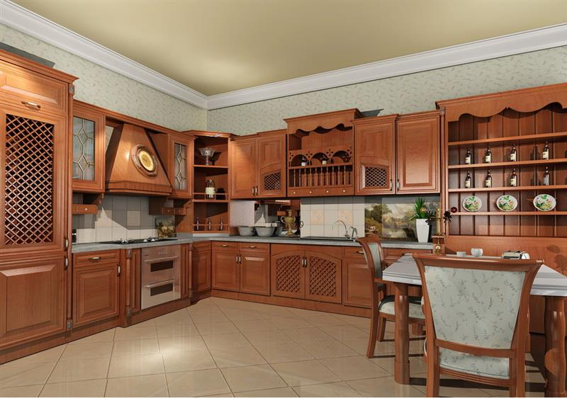Affordable Modular Kitchen cabinets, Classic Design Modular Kitchen Price