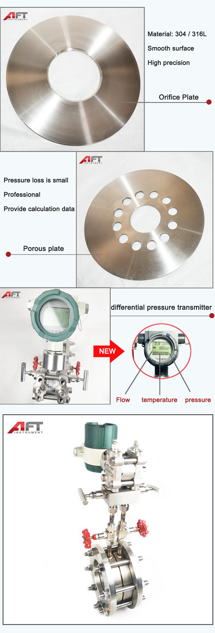 high pressure integrated balanced orifice plate flowmeter