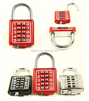 Colorful Combination Digital Password Padlock Outdoor Combination padlock with master key