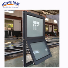 Convenient aluminum top hung window fixed windows awning glass window