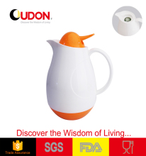 1.0L plastic vacuum pot with glass liner egg shape