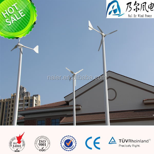 horizontal axis wind turbine 2000w on the rooftop