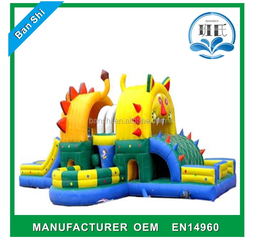 combo and inflatable castle for children