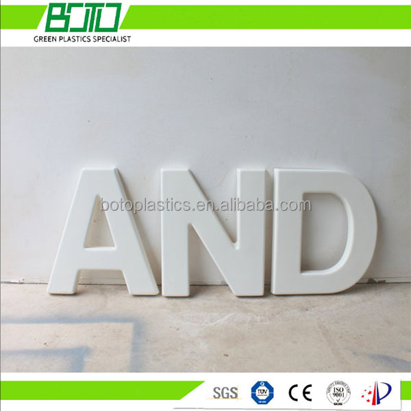 PVC board letter carving for decoration