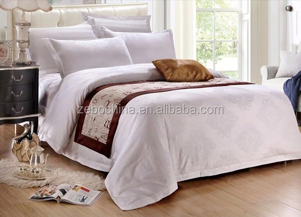 Hot Selling Cotton Custom White Jacquard Duvet Cover Hotel