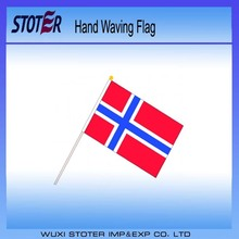 Cheap Norway Waving Flag , Norway 10*15 cm Hand Waving Flag , Small Norway ployester Hand Waving Flag