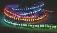 2016 1M 144 led/m WS2812b led strip IP67 IP68 Waterproof Black PVC DC 5v led pixel strip SMD 5050 RGB