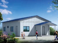 Steel Frame Prefabricated House in Angola for Temporary Living Home