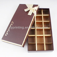 Printed Cardboard Chocolate Packing Paper Box