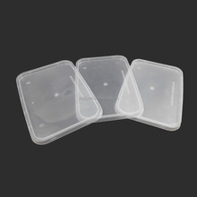wholesale 1500ml clear rectangular disposable plastic food / lunch storage takeaway container
