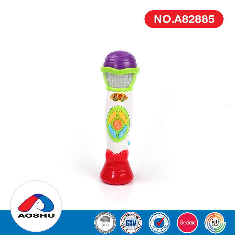 Much funny educational voice changer microphone musical baby toys with light