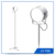 Home Goods Flexible Lamp Shades Dimmable LED Floor Standing Lamps