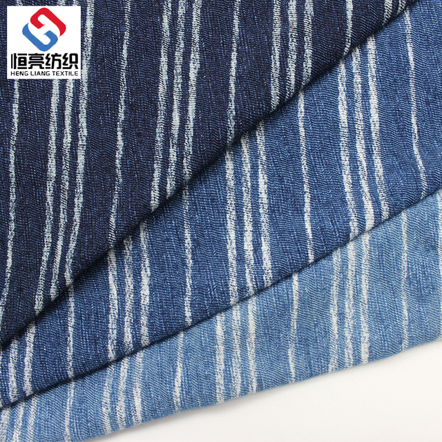 China factory single warp knitted fabric pure indigo polyester denim