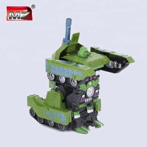 2.4G 1:10 toys deformation rc tank with lights